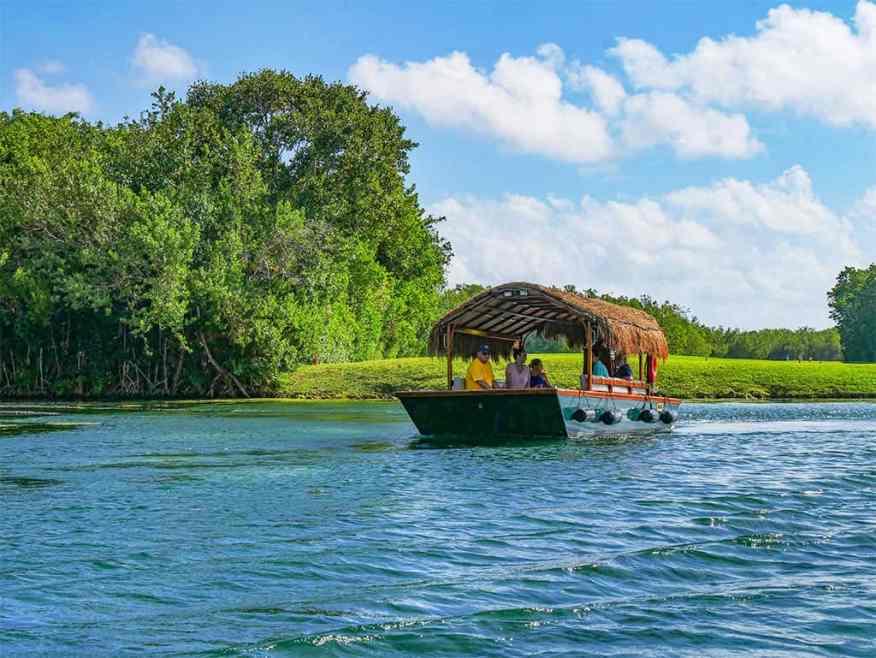 Mayakoba boat trip