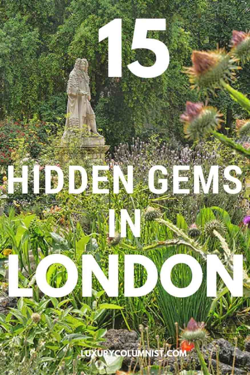 15 Hidden Gems in London