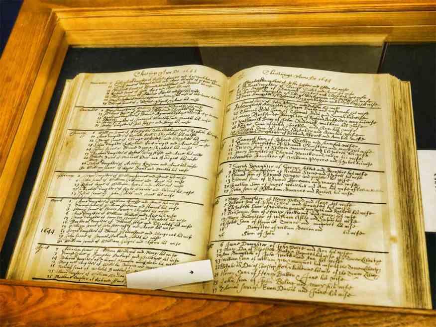 William Penn's baptisimal certificate
