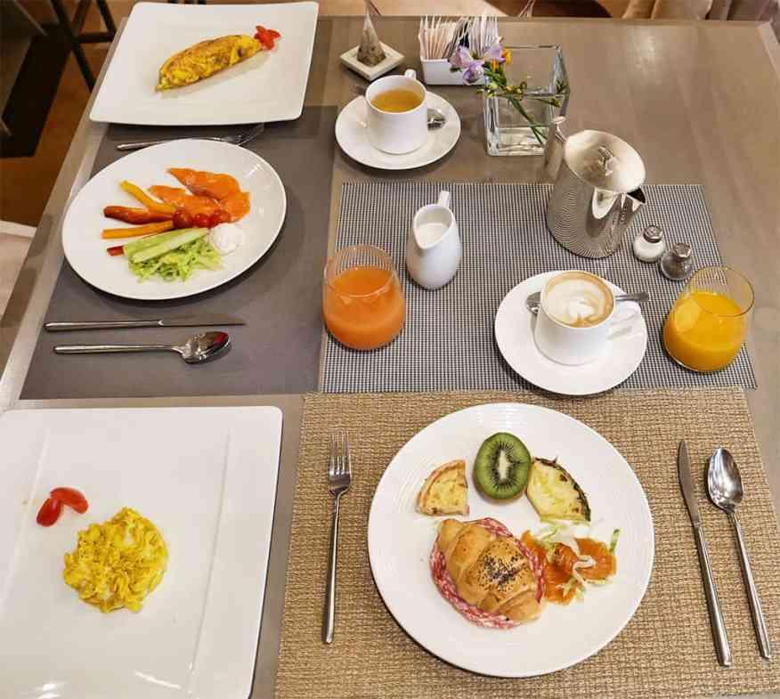 Palazzo Victoria breakfast