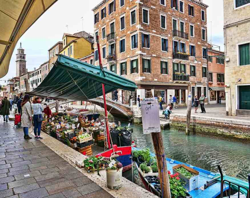 The vegetable barge at Ponte de Pugni is a Venice institution!
