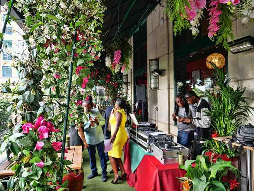 Jamaica Garden Terrace at Boisdale Canary Wharf