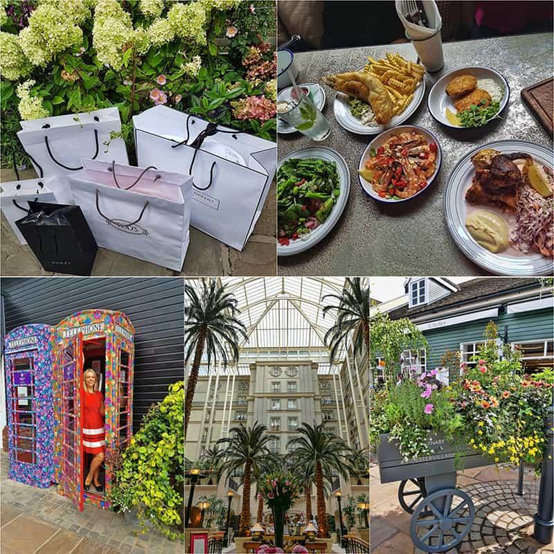 Bicester Village designer outlet in Oxfordshire UK