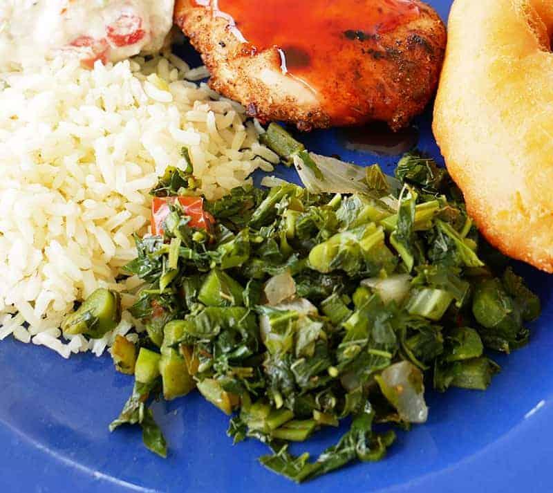 Jamaican callaloo - a tasty vegetable dish
