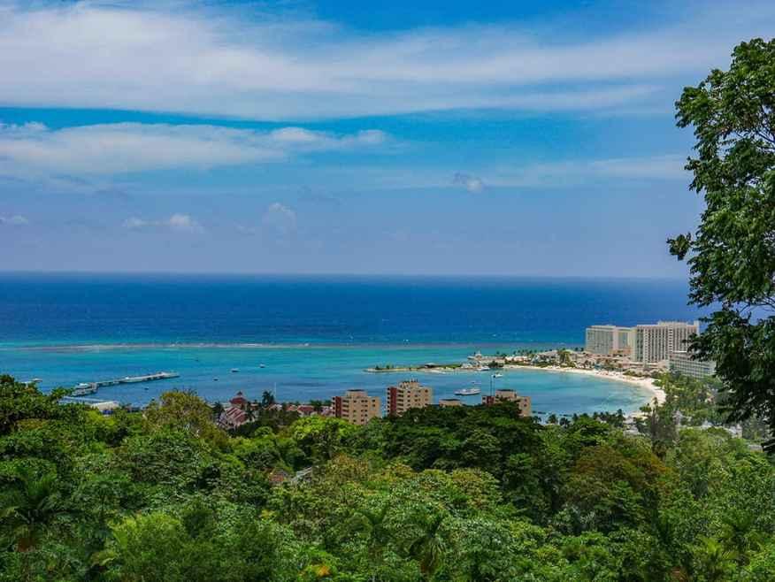 View from Oceans on the Ridge near Ocho Rios, Jamaica