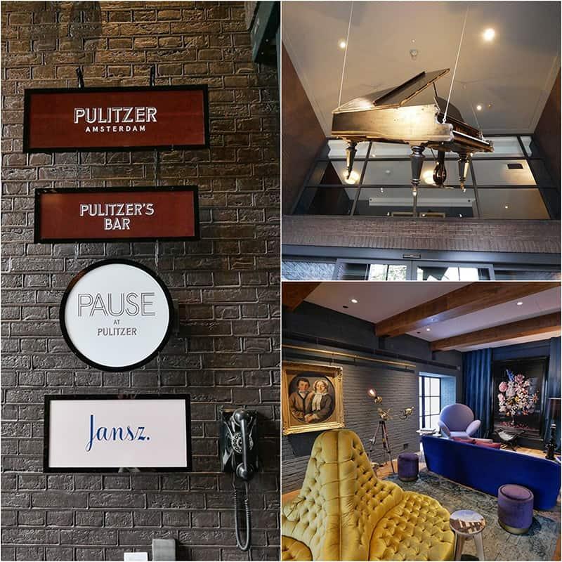The lobby of Hotel Pulitzer, Amsterdam