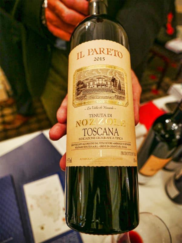 Il Pareto wine from Tuscany
