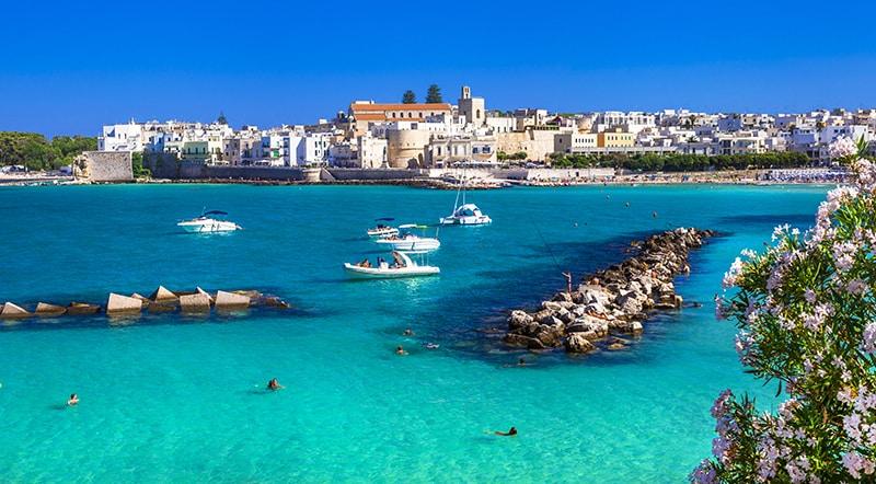 Otranto, Puglia, Italy - beautiful azure sea