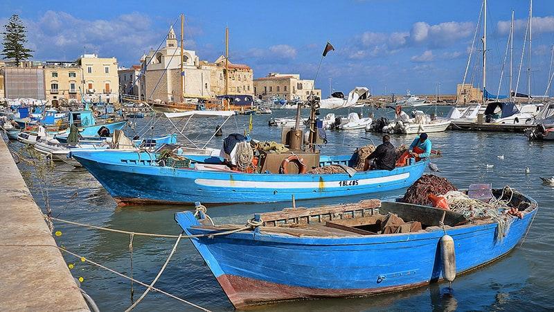 Fishing boats in Puglia, Italy