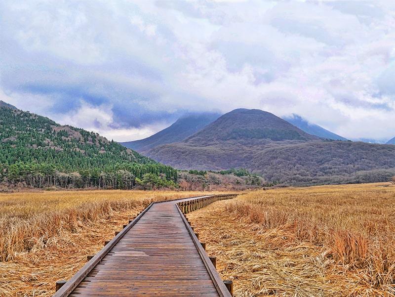 Mount Kuju, Tadewara Marshland, Japan - the boardwalk makes it suitable for hiking in all weathers