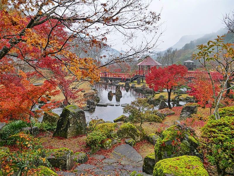 Keisekien Gardens in Oita Prefecture, Japan