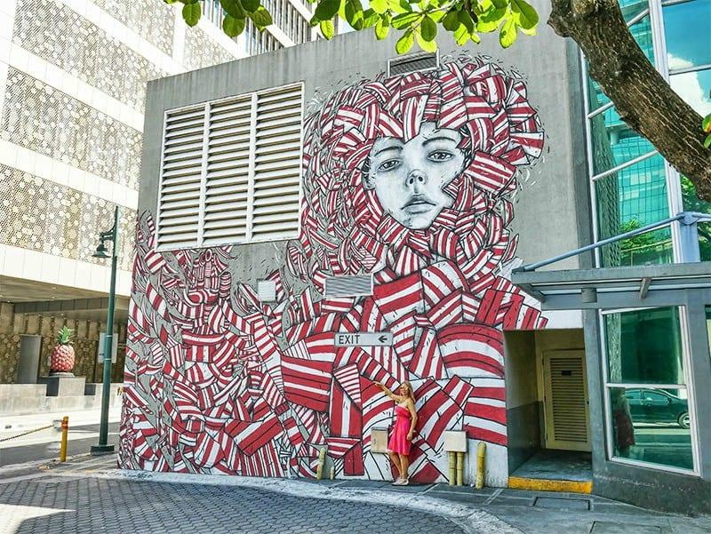 Bonifacio Global City street art in Manila, Philippines