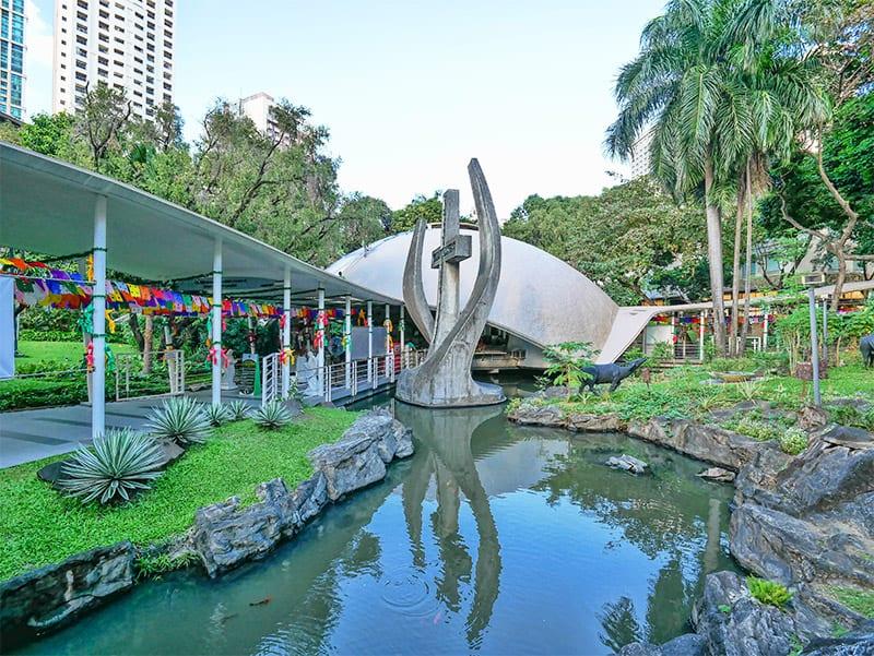 Greenbelt chapel and shopping mall in Makati, Manila, Philippines