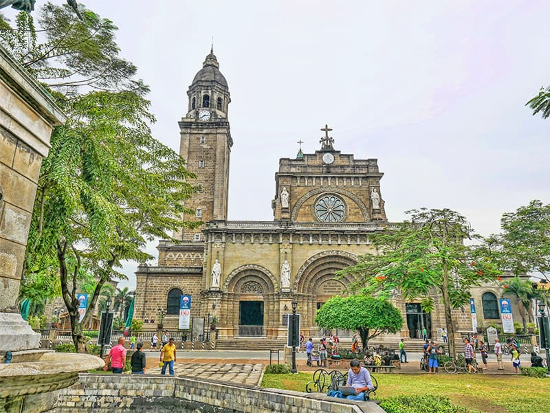 Manila Cathedral in the Philippines