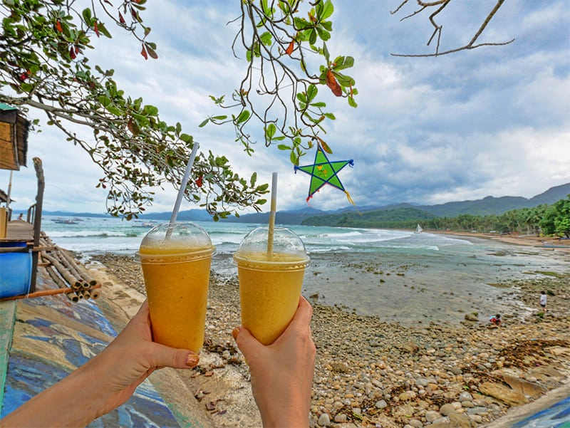 Fresh fruit juice after our tour of the Underground River, Palawan