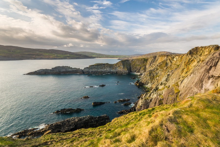 Ireland's temperate climate and unspoiled green landscape are widely enjoyed by golfers and hikers.