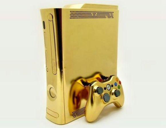 24kt Gold Xbox 360 by Computer Choppers1