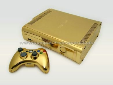 24kt Gold Xbox 360 by Computer Choppers2