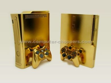 24kt Gold Xbox 360 by Computer Choppers3