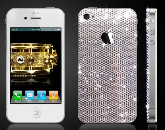 iPhone 4 studded in Swarovski by CrystalRoc1