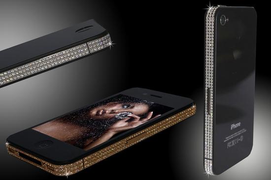 iPhone 4 Swarovski Gold & Platinum Edition1