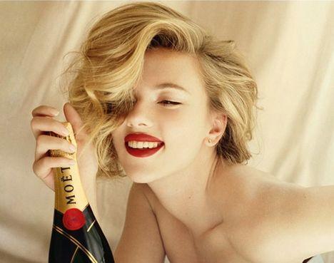 Scarlett Johansson for Moët & Chandon 2011 Campaign
