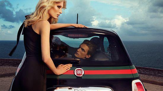 Gucci Fiat 500 Winter 2011 Campaign