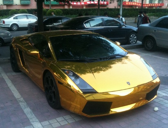 Lamborghini Gallardo In Gold Spotted In Beijing Luxuryes
