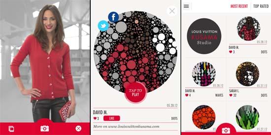 Louis Vuitton Kusama Studio iPhone App