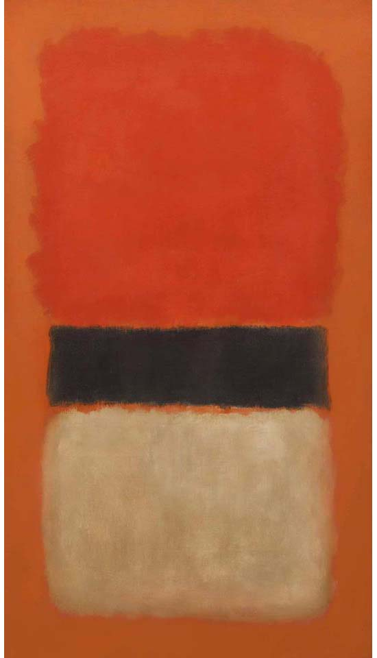 Mark Rothko, Black Stripe (Orange, Gold and Black), 1957
