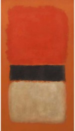 $21.3 million - Mark Rothko, Black Stripe (Orange, Gold and Black), 1957