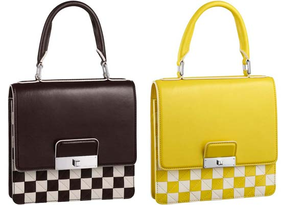 Damier-Mosaic-Enveloppe-PM-Brown-and-yellow