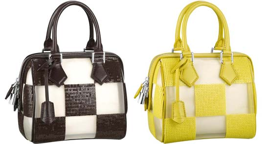 Damier-Optic-Speedy-Cube-Brown-and-yellow