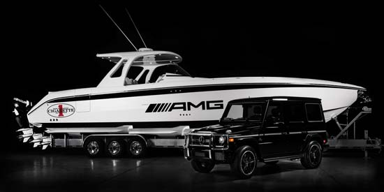 Cigarette 42' Huntress Boat Inspired by the Mercedes-Benz G 63 AMG