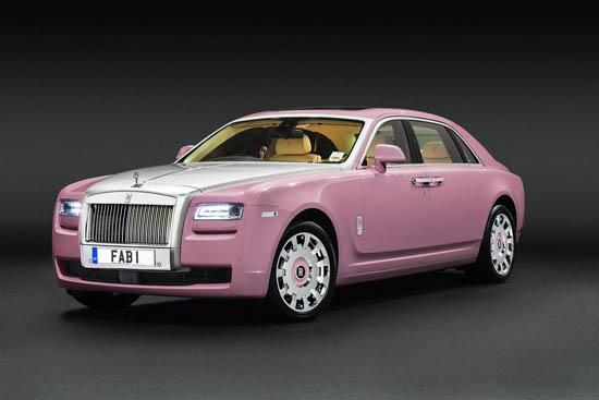 Rolls Royce Unveils One-of-a-Kind Pink Ghost FAB1 for Charity