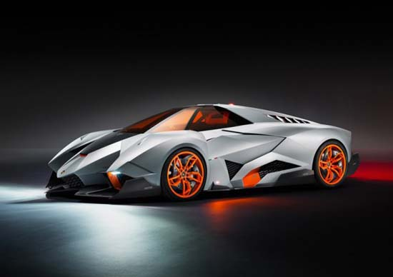 Lamborghini Egoista - Egoista Concept has room for a single occupant, is powered by a 5.2-liter V10 engine and boasts styling said to be inspired by an Apache helicopter.