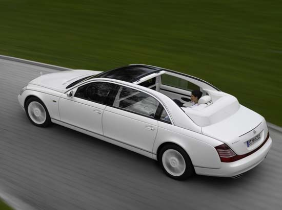 The Maybach Landaulet considered as one of the most luxurious cars available, is powered by its 612-horsebower biturbo V12, and it can go from 0-60 mph in 5.2 seconds.