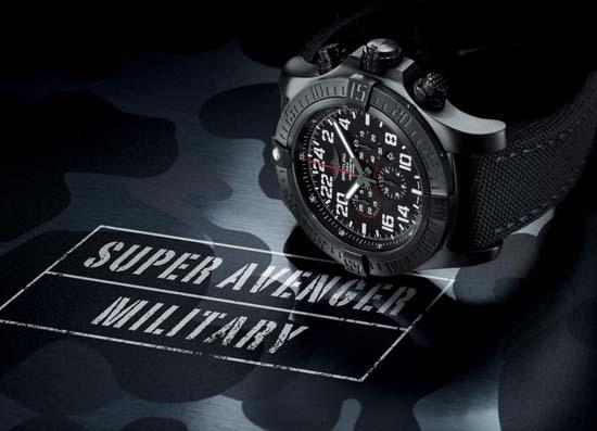 Breitling-Super-Avenger-Military-Chronograph-on-Side