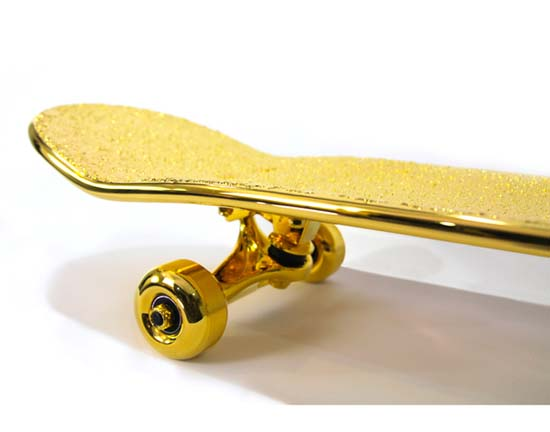 $15,000 USD Gold-Plated Skateboard By SHUT