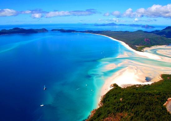 5. Whitehaven Beach, Whitsunday Island, Australia