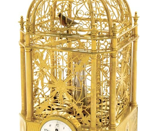 Singing Bird Cage Clock With Automaton by Jaquet Droz Sells For A Staggering $303,000