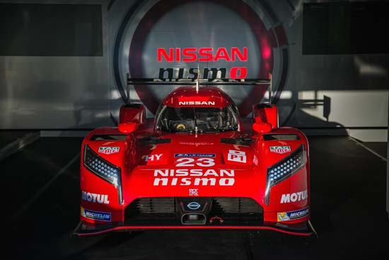 The Nissan GT-R LM NISMO in action at the Le Mans