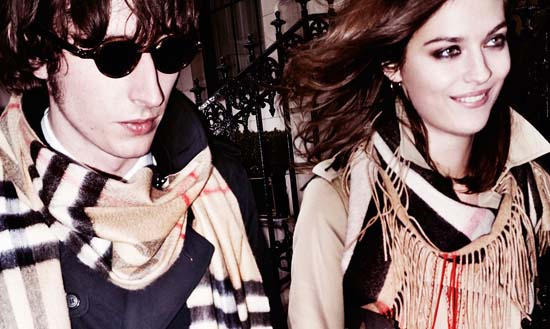 Ranald Macdonald and Amber Anderson in Burberry 2015 campaign