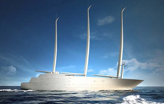 Sailing Yacht A designed by Philippe Starck