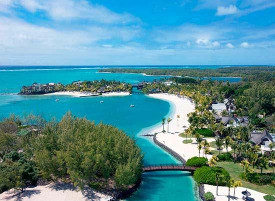 Shangri La Mauritius-Arial-Shot
