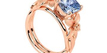 Vivid Blue Diamond Ring