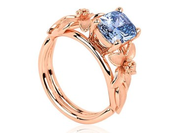 Vivid Blue Diamond Ring
