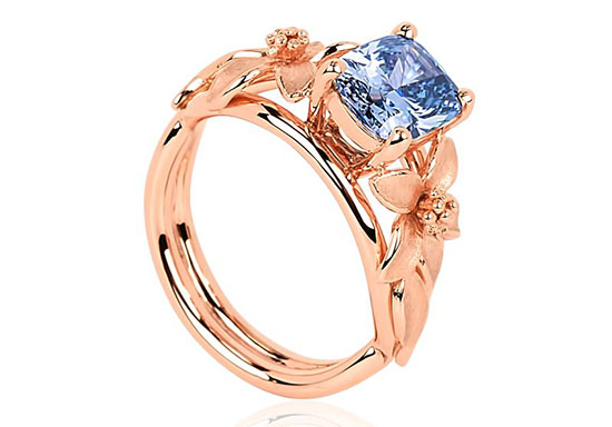 Jane Seymour Fancy Vivid Blue Diamond Ring 1