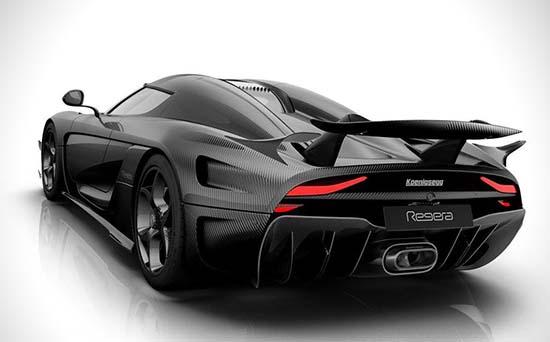 Carbon Fiber Koenigsegg Regera back