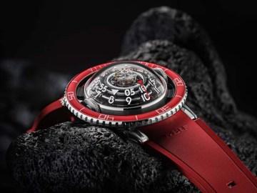 MB&F HM7 Aquapod Platinum Red Watch